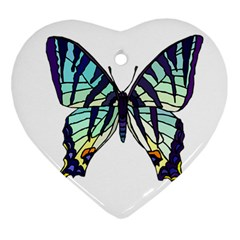 A Colorful Butterfly Ornament (heart) by Samandel