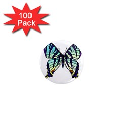 A Colorful Butterfly 1  Mini Magnets (100 Pack)