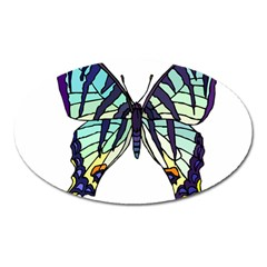 A Colorful Butterfly Oval Magnet