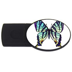 A Colorful Butterfly Usb Flash Drive Oval (2 Gb)