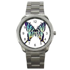 A Colorful Butterfly Sport Metal Watch