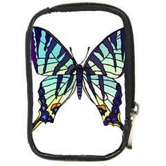 A Colorful Butterfly Compact Camera Leather Case by Samandel