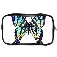 A Colorful Butterfly Toiletries Bag (two Sides)