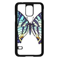 A Colorful Butterfly Samsung Galaxy S5 Case (black)