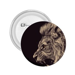 Angry Male Lion 2 25  Buttons