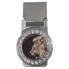 Angry Male Lion Money Clips (cz)