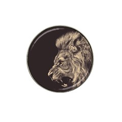 Angry Male Lion Hat Clip Ball Marker