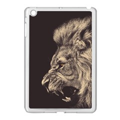 Angry Male Lion Apple Ipad Mini Case (white)