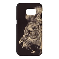 Angry Male Lion Samsung Galaxy S7 Edge Hardshell Case by Samandel