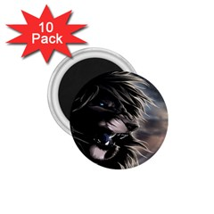 Angry Lion Digital Art Hd 1 75  Magnets (10 Pack)