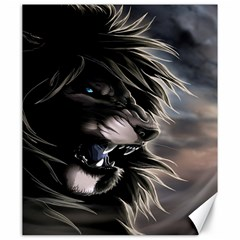 Angry Lion Digital Art Hd Canvas 20  X 24