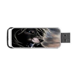 Angry Lion Digital Art Hd Portable Usb Flash (two Sides) by Samandel