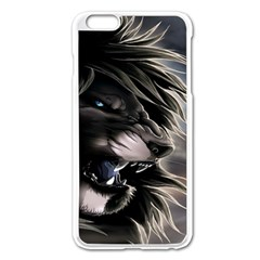 Angry Lion Digital Art Hd Apple Iphone 6 Plus/6s Plus Enamel White Case