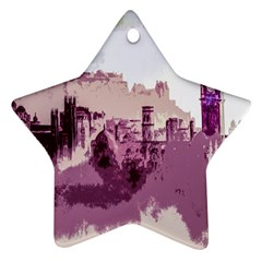 Abstract Painting Edinburgh Capital Of Scotland Ornament (star)