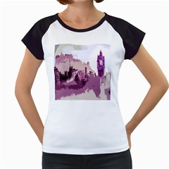 Abstract Painting Edinburgh Capital Of Scotland Women s Cap Sleeve T by Samandel