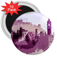 Abstract Painting Edinburgh Capital Of Scotland 3  Magnets (10 Pack)
