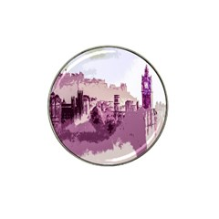 Abstract Painting Edinburgh Capital Of Scotland Hat Clip Ball Marker