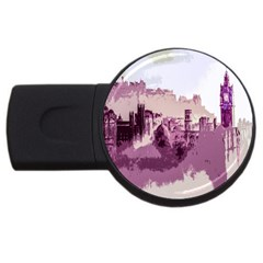 Abstract Painting Edinburgh Capital Of Scotland Usb Flash Drive Round (4 Gb)