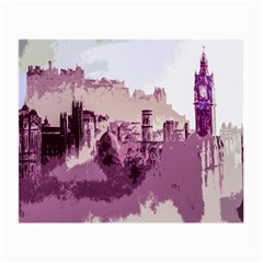 Abstract Painting Edinburgh Capital Of Scotland Small Glasses Cloth (2 Side) by Samandel