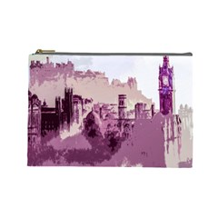Abstract Painting Edinburgh Capital Of Scotland Cosmetic Bag (large)