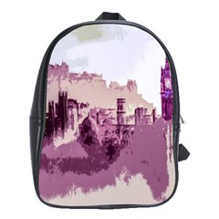 Abstract Painting Edinburgh Capital Of Scotland School Bag (large)