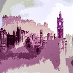 Abstract Painting Edinburgh Capital Of Scotland Magic Photo Cube