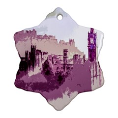 Abstract Painting Edinburgh Capital Of Scotland Snowflake Ornament (two Sides)