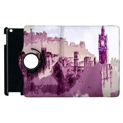 Abstract Painting Edinburgh Capital Of Scotland Apple Ipad 3/4 Flip 360 Case