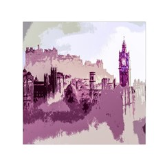Abstract Painting Edinburgh Capital Of Scotland Small Satin Scarf (square)