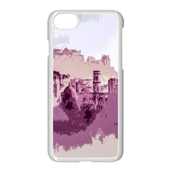 Abstract Painting Edinburgh Capital Of Scotland Apple Iphone 7 Seamless Case (white)