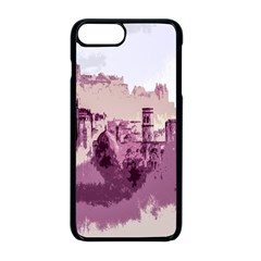 Abstract Painting Edinburgh Capital Of Scotland Apple Iphone 8 Plus Seamless Case (black)