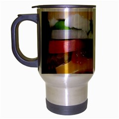 Abstract Barbeque Bbq Beauty Beef Travel Mug (silver Gray) by Samandel
