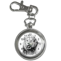 Lion Wildlife Art And Illustration Pencil Key Chain Watches by Samandel