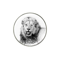 Lion Wildlife Art And Illustration Pencil Hat Clip Ball Marker