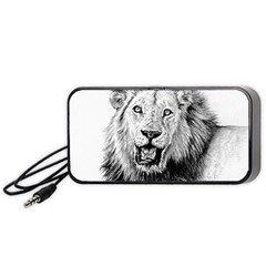 Lion Wildlife Art And Illustration Pencil Portable Speaker