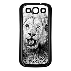 Lion Wildlife Art And Illustration Pencil Samsung Galaxy S3 Back Case (black)