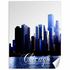Abstract Of Downtown Chicago Effects Canvas 12  X 16
