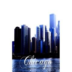 Abstract Of Downtown Chicago Effects 5 5  X 8 5  Notebook by Samandel
