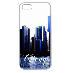 Abstract Of Downtown Chicago Effects Apple Seamless Iphone 5 Case (clear)