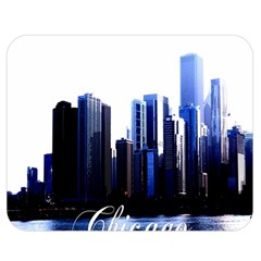 Abstract Of Downtown Chicago Effects Double Sided Flano Blanket (medium)