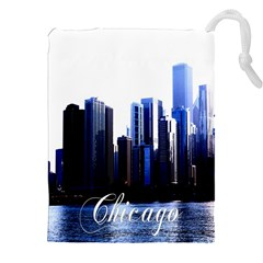 Abstract Of Downtown Chicago Effects Drawstring Pouch (xxl)