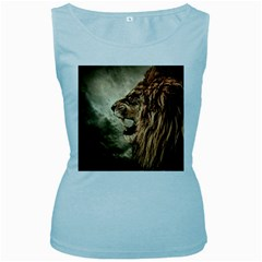 Roaring Lion Women s Baby Blue Tank Top by Samandel