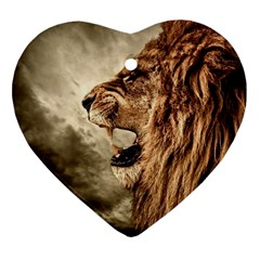 Roaring Lion Heart Ornament (two Sides)
