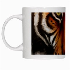 The Tiger Face White Mugs