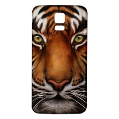 The Tiger Face Samsung Galaxy S5 Back Case (white)