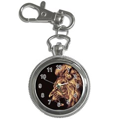 Angry Male Lion Gold Key Chain Watches