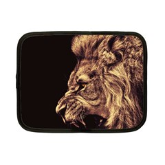 Angry Male Lion Gold Netbook Case (small) by Samandel