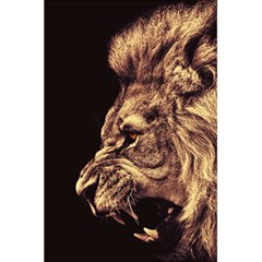 Angry Male Lion Gold 5 5  X 8 5  Notebook by Samandel