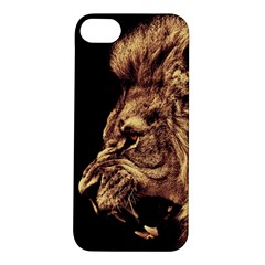 Angry Male Lion Gold Apple Iphone 5s/ Se Hardshell Case
