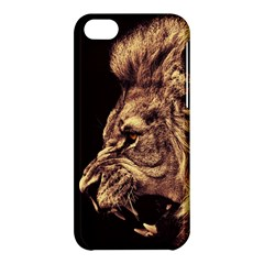 Angry Male Lion Gold Apple Iphone 5c Hardshell Case